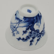 Load image into Gallery viewer, Blue and White Hand Painted Prunus Teacup
