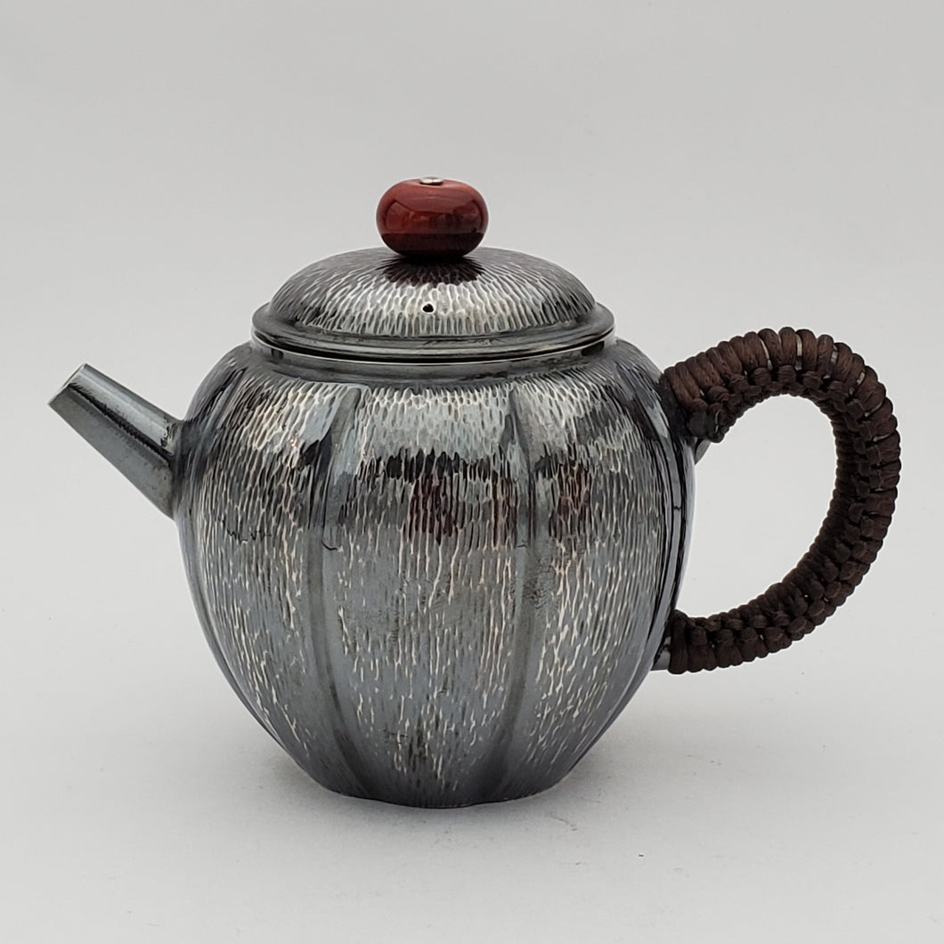 Pure Silver Teapot - Pumpkin 165 ml