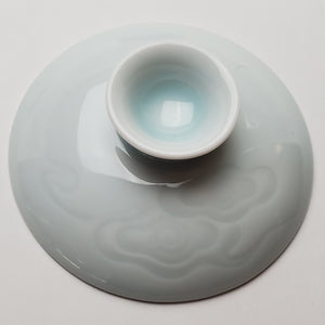 Gaiwan - Celadon Carved Auspicious Cloud