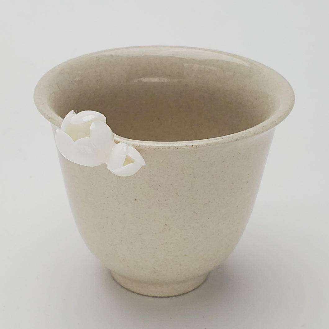 Wood Ash Glaze Flower Porcelain Teacup
