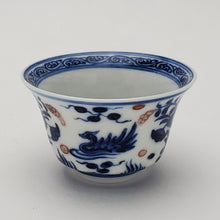 Load image into Gallery viewer, Blue and White You Li Hong Hand Painted Teacup