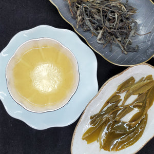 2020 Spring 1st Pick Bing Dao 300 Years Old Gushu Green Puerh Loose 1 oz