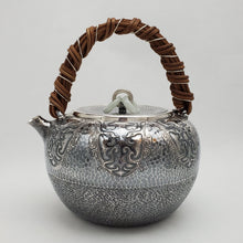Load image into Gallery viewer, Pure Silver Tea-Water Kettle - Phoenix 1000 ml