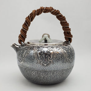 Pure Silver Tea-Water Kettle - Phoenix 1000 ml