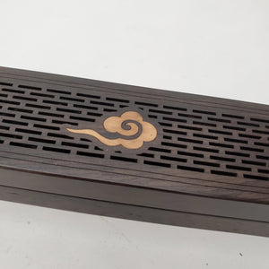 Hard Wood Incense Stick Burner Box - Auspicious Cloud