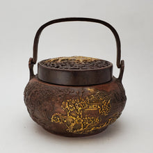 Load image into Gallery viewer, Incense Burner - Pine and Crane Gold Gilded