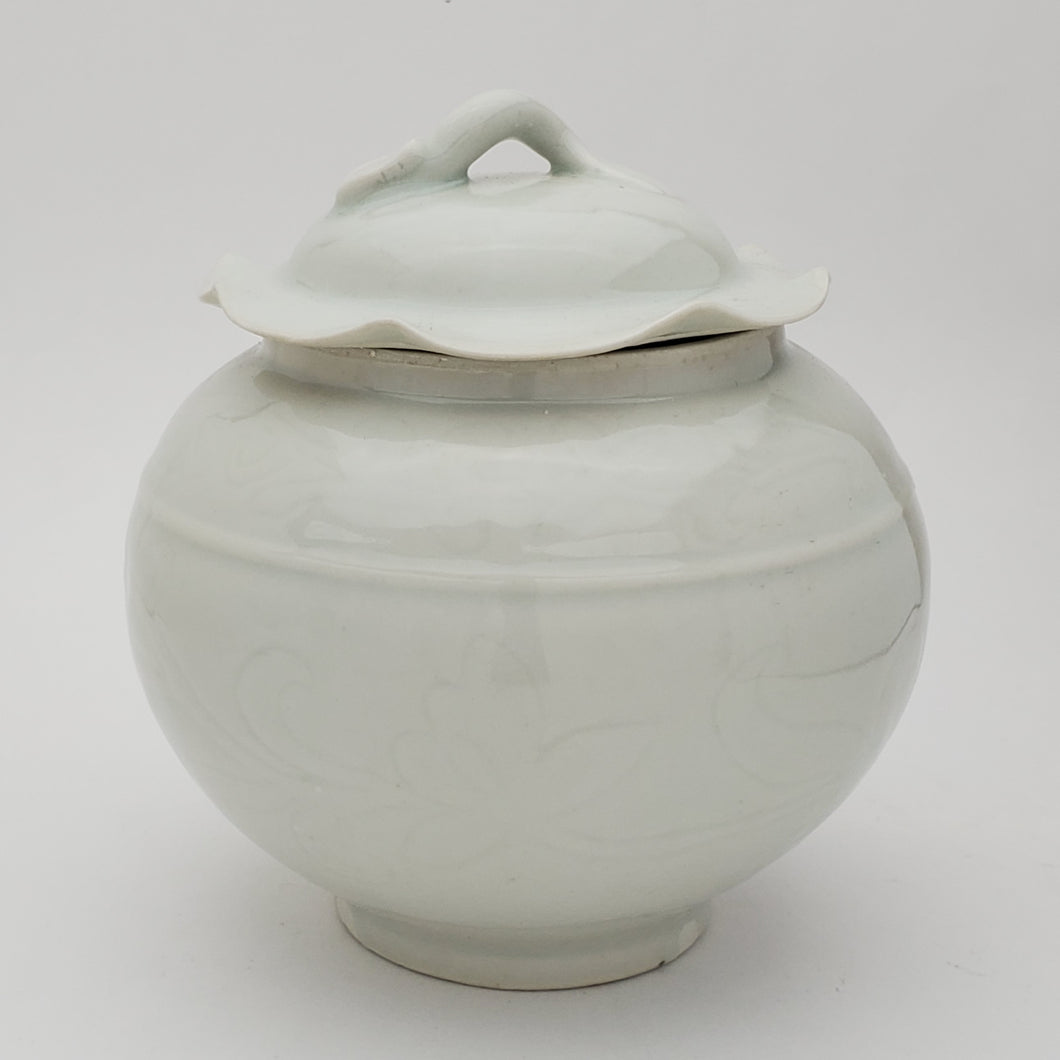 Tea Jar - Celadon Lotus Leaf #2