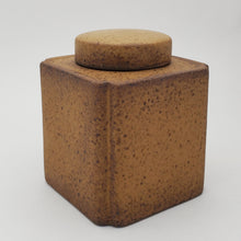 Load image into Gallery viewer, Tea Jar - Yellow Glaze Square
