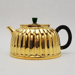 24 K Gold Plated Pure Silver Teapot - Jing Lan (Well Barrier) 160 ml