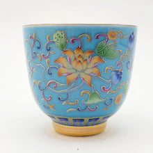 Load image into Gallery viewer, Silver Lined Blue Lotus Teacup