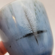 Load image into Gallery viewer, Silver Lined Blue Water Ink Teacup
