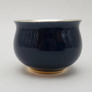 Silver Lined Navy Blue Teacup