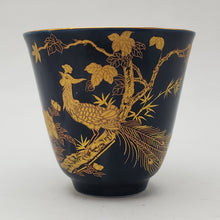 Load image into Gallery viewer, Gold 24k Lined Navy Blue Phoenix Teacup