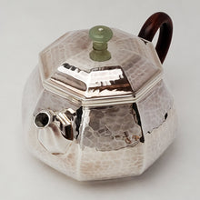 Load image into Gallery viewer, Hand Stamped Pure Silver Octagon Teapot 145 ml