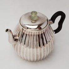 Load image into Gallery viewer, Hand Stamped Pure Silver Melon Teapot 180 ml