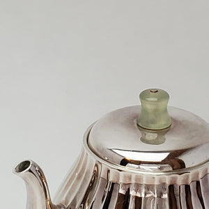 Hand Stamped Pure Silver Melon Teapot 180 ml