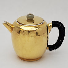 Load image into Gallery viewer, 24 K Gold Plated Pure Silver Teapot - Gong Deng (Lantern) 120 ml