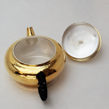 Load image into Gallery viewer, 24 K Gold Plated Pure Silver Teapot - Bian Deng (Short Lantern) 120 ml