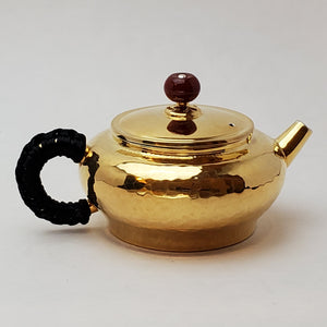 24 K Gold Plated Pure Silver Teapot - Bian Deng (Short Lantern) 120 ml