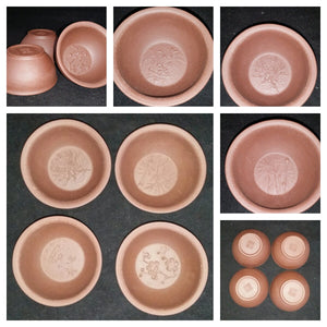 4 pc set Yixing Purple clay tea cups