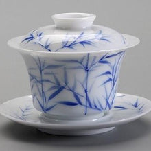 Load image into Gallery viewer, Gaiwan - Blue & White Bamboo