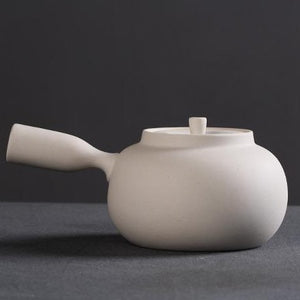 Chao Zhou White Clay Kettle Water Boiler Side-Handle 800 ml