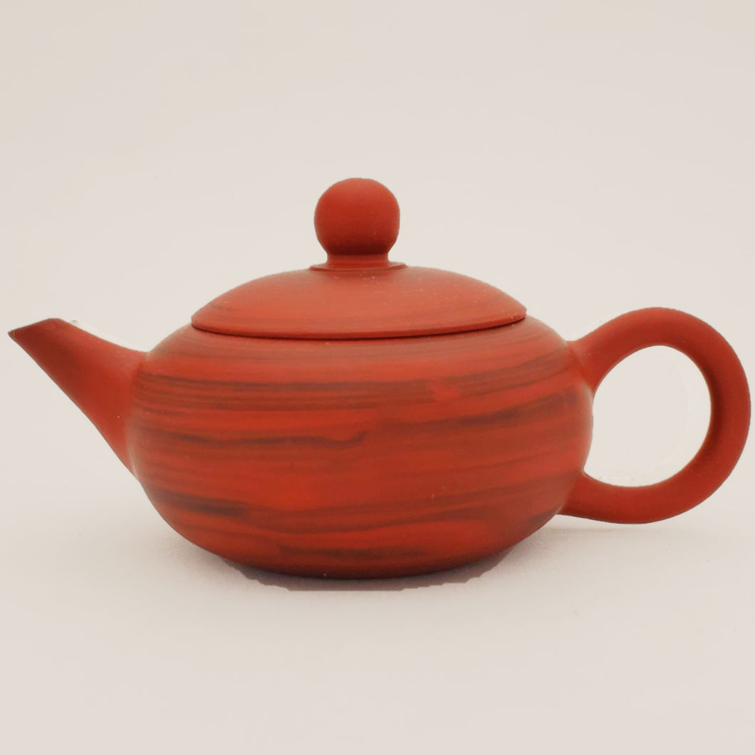 Yixing Marble Red Brow Clay hand thrown Tea Pot #1 -  80 ml