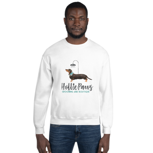 HolliePaws Unisex White Sweatshirt - HolliePaws