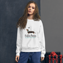 Load image into Gallery viewer, HolliePaws Unisex White Sweatshirt - HolliePaws