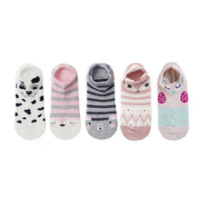 Load image into Gallery viewer, Women's 5 Pair Set of Pet Short Socks - HolliePaws