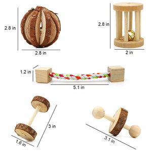 Small Animal 10 Pack of Wooden Toys - HolliePaws