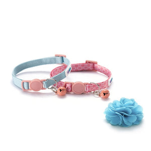 2 Piece Cat Collars and Flower - HolliePaws