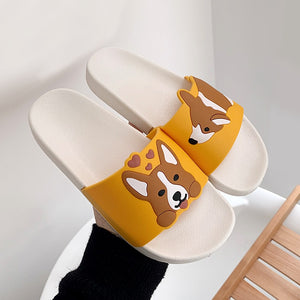 Womens Summer Corgi Slides - HolliePaws