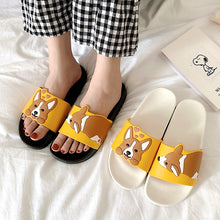 Load image into Gallery viewer, Womens Summer Corgi Slides - HolliePaws