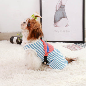 Dog Stripped T-shirt with Fanny Pack - HolliePaws