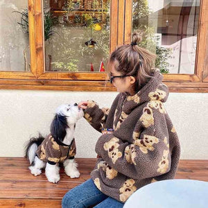 Matching Velvet Teddy Bear Sweatshirt - HolliePaws