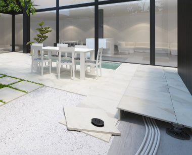 How to lay outdoor porcelain paving tiles