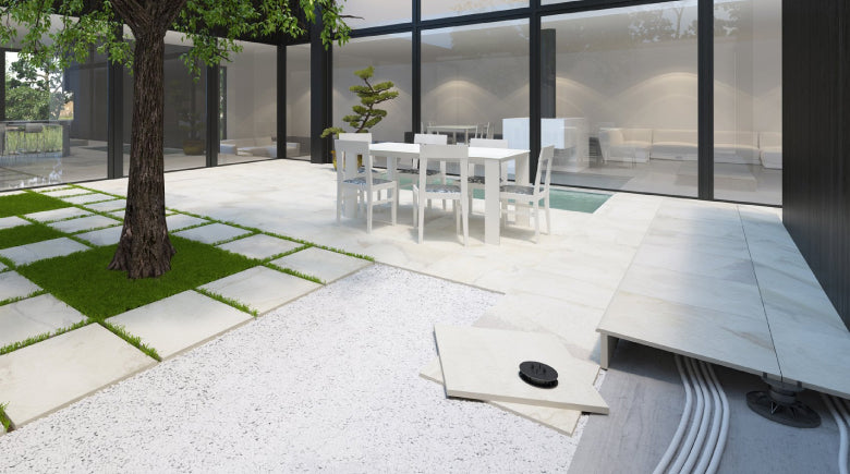 Different ways to lay outdoor porcelain paving tiles