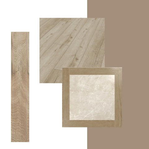 Wood effect tiles with Dulux Colour of the Year 2021