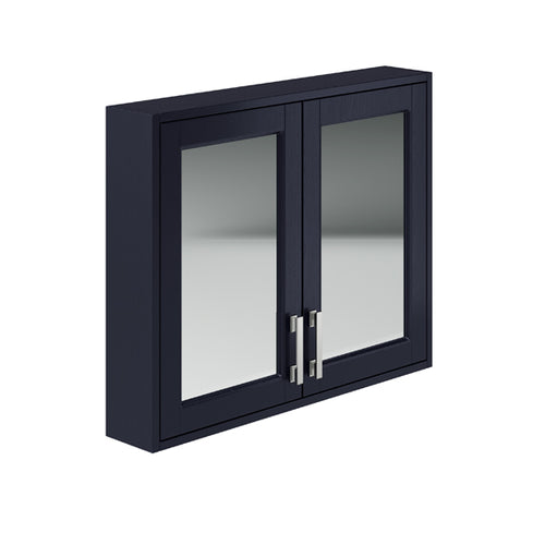 Berkley 800mm 2 Door Mirror Cabinet Indigo Ash