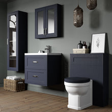 Load image into Gallery viewer, Berkley 800mm 2 Drawer Wall Hung Vanity Unit Indigo Ash