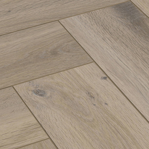 Carlisle Metz Oak Herringbone 8mm Laminate Flooring