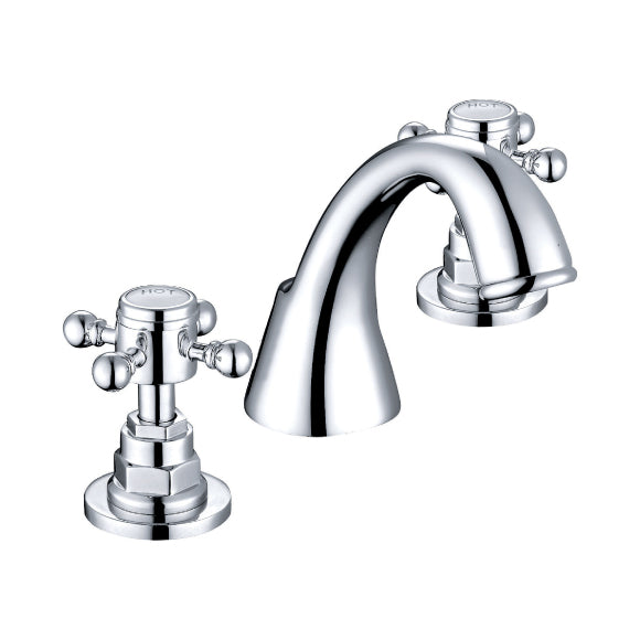 Charlston 3 Hole Basin Mixer Tap Set