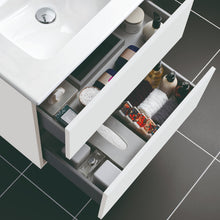 Load image into Gallery viewer, Jade 600mm 2 Drawer White Gloss Wall Hung Vanity Unit