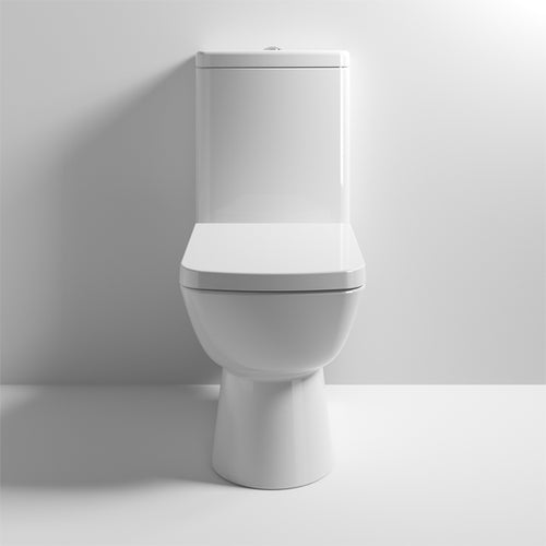 Nuie Ambrose Compact Semi Flush to Wall Pan, Cistern & Seat