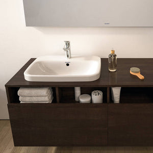 Logis Single lever basin mixer 100 with push-open waste set