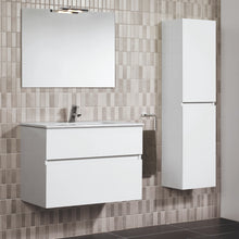 Load image into Gallery viewer, Jade 800mm 2 Drawer White Gloss Wall Hung Vanity Unit
