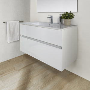Jade 800mm 2 Drawer White Gloss Wall Hung Vanity Unit