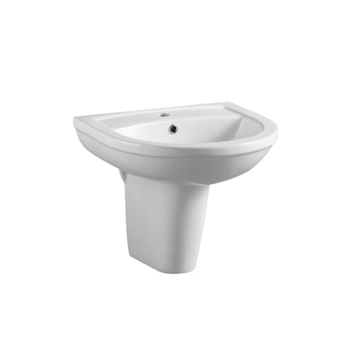 Juliet 450mm Washbasin with Semi Pedestal