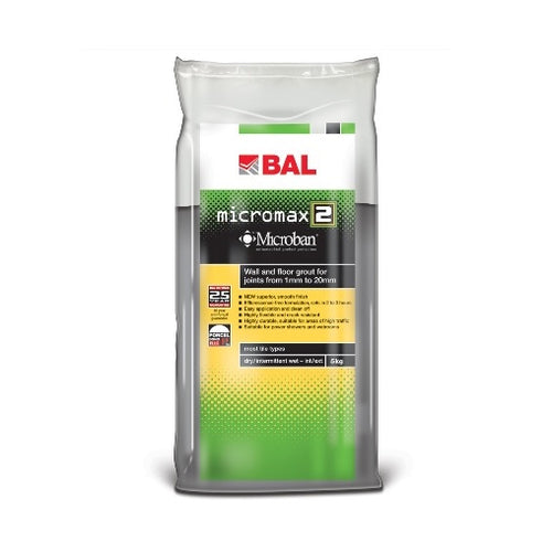 BAL Micromax2 Rapid Setting Tile Grout for Walls & Floors 5kg
